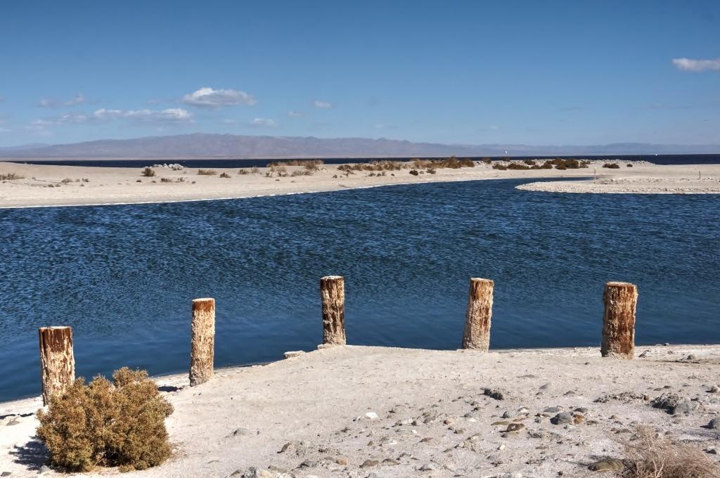 5 Pilings Salton Sea Blue