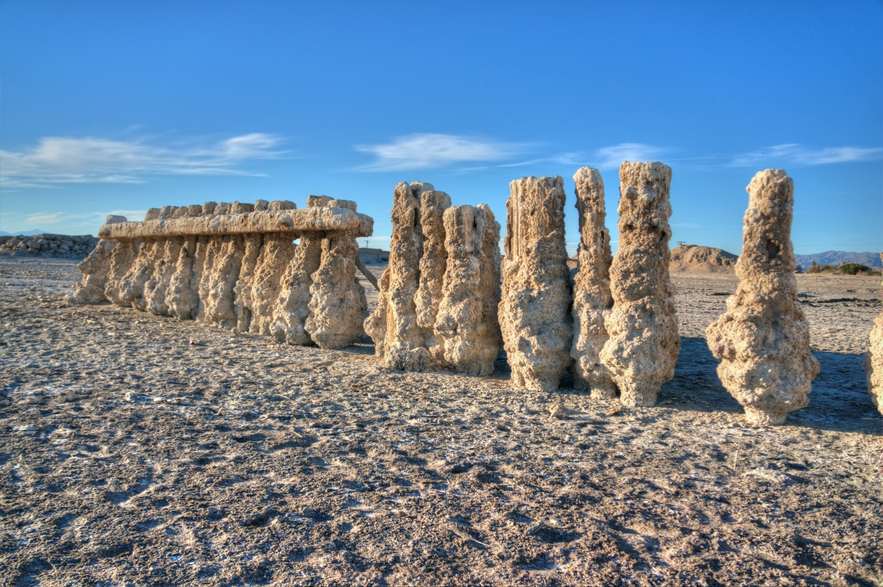 Bombay Beach Bare Salted Pilings