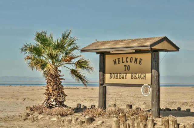 Welcome to Bombay Beach Sign